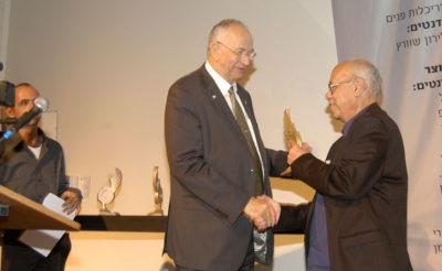 פרס מפעל חיים לפרופסור רן שחורי ממאיר ניצן, ראש העיר